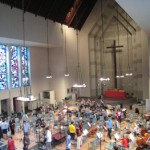 イエス・キリスト教会でのレコーディング風景