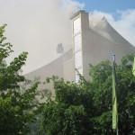 フィルハーモニーで火災発生