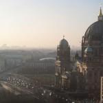 年の瀬のベルリン上空より
