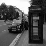 街角スナップ - ロンドンのタクシー -