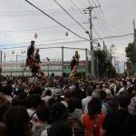 大津諏訪神社の御柱祭を見る